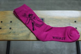 <img class='new_mark_img1' src='//img.shop-pro.jp/img/new/icons5.gif' style='border:none;display:inline;margin:0px;padding:0px;width:auto;' />WHIMSY 32/1 ORYOU SOCKS(VIOLET)