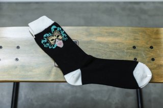 <img class='new_mark_img1' src='//img.shop-pro.jp/img/new/icons5.gif' style='border:none;display:inline;margin:0px;padding:0px;width:auto;' />WHIMSY 32/1 MASK SOCKS(BLACK)
