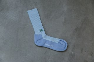 WHIMSY 42/1 EMJAY SOCKS(ICE BLUE)