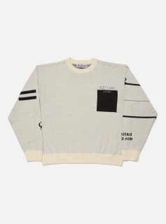 <img class='new_mark_img1' src='//img.shop-pro.jp/img/new/icons5.gif' style='border:none;display:inline;margin:0px;padding:0px;width:auto;' />GOOD LIFE JACQUARD COTTON CREWNECK KNIT(IVORY)