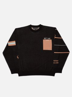 <img class='new_mark_img1' src='//img.shop-pro.jp/img/new/icons5.gif' style='border:none;display:inline;margin:0px;padding:0px;width:auto;' />GOOD LIFE JACQUARD COTTON CREWNECK KNIT(BLACK)
