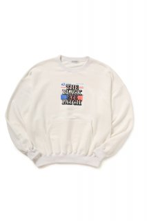 LABEL CREWNECK(WHITE)