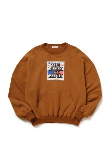 LABEL CREWNECK(KHAKI)