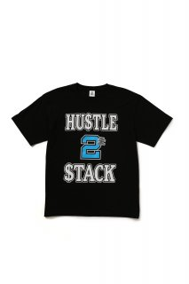 HUSTLE 2 STACK TEE(BLACK)