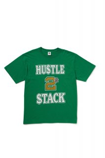 HUSTLE 2 STACK TEE(GREEN)