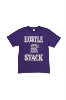 HUSTLE 2 STACK TEE(PURPLE)