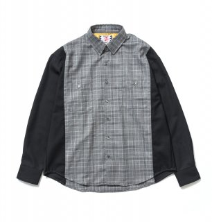 TWO TONE SHIRT(BLACK)