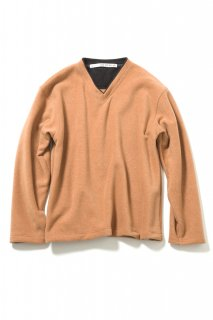 V-neck Fleece Pullover(ORANGE)