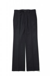 Double Cloth Flare Straight Pants(BLACK)