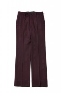 Double Cloth Flare Straight Pants(BURGUNDY)