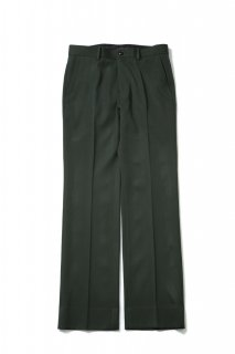 Double Cloth Flare Straight Pants(GREEN)