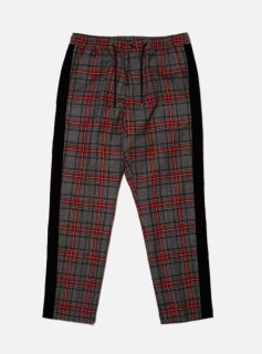 WOOL PLAID TAPED PANT(GRAY)