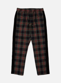 WOOL PLAID TAPED PANT(NAVY)