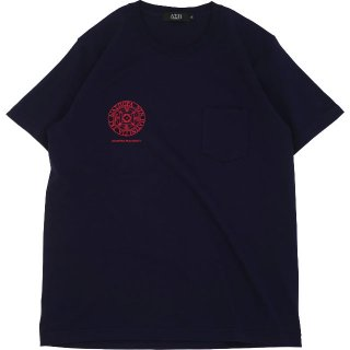 HEAVYWEIGHT SMALL MAGIC CIRCLE POCKET TEE (NAVY)