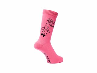 <img class='new_mark_img1' src='//img.shop-pro.jp/img/new/icons5.gif' style='border:none;display:inline;margin:0px;padding:0px;width:auto;' />WHIMSY  32/1 FLANDERS SOCKS(PINK)