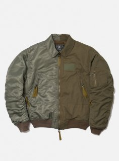 <img class='new_mark_img1' src='//img.shop-pro.jp/img/new/icons5.gif' style='border:none;display:inline;margin:0px;padding:0px;width:auto;' />COMBINE HELI CREW BOMBER JACKET(SAGE)