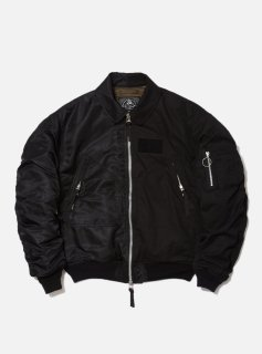 <img class='new_mark_img1' src='//img.shop-pro.jp/img/new/icons5.gif' style='border:none;display:inline;margin:0px;padding:0px;width:auto;' />COMBINE HELI CREW BOMBER JACKET(BLACK)