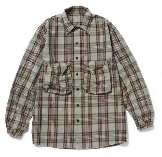 <img class='new_mark_img1' src='//img.shop-pro.jp/img/new/icons5.gif' style='border:none;display:inline;margin:0px;padding:0px;width:auto;' />CHECK POCKET SHIRTS(BROWN CHECK)