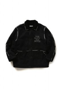 <img class='new_mark_img1' src='//img.shop-pro.jp/img/new/icons5.gif' style='border:none;display:inline;margin:0px;padding:0px;width:auto;' />LOGO TAPE DENIM RANCH COAT(BLACK)