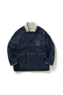 <img class='new_mark_img1' src='//img.shop-pro.jp/img/new/icons5.gif' style='border:none;display:inline;margin:0px;padding:0px;width:auto;' />LOGO TAPE DENIM RANCH COAT(BLUE)