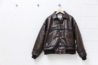<img class='new_mark_img1' src='//img.shop-pro.jp/img/new/icons5.gif' style='border:none;display:inline;margin:0px;padding:0px;width:auto;' />LEATHER STADIUM JACKET(CHOCOLATE)
