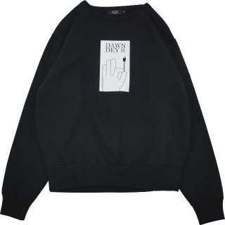 <img class='new_mark_img1' src='//img.shop-pro.jp/img/new/icons5.gif' style='border:none;display:inline;margin:0px;padding:0px;width:auto;' />DAWN DEYS CREWNECK SWEATSHIRT (BLACK)