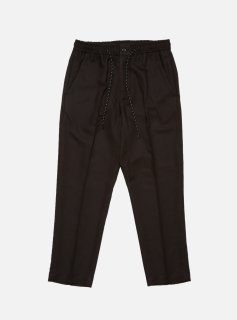<img class='new_mark_img1' src='//img.shop-pro.jp/img/new/icons5.gif' style='border:none;display:inline;margin:0px;padding:0px;width:auto;' />ELASTIC WAIST POLY RAYON TROUSER(BLACK)