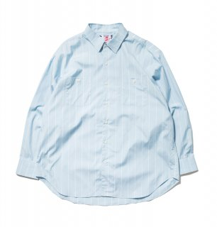 <img class='new_mark_img1' src='//img.shop-pro.jp/img/new/icons5.gif' style='border:none;display:inline;margin:0px;padding:0px;width:auto;' />Big Stripe Shirt(BLUE)