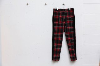<img class='new_mark_img1' src='//img.shop-pro.jp/img/new/icons5.gif' style='border:none;display:inline;margin:0px;padding:0px;width:auto;' />PLAID ELASTIC WAIST TAPED SEAM TROUSER(RED)