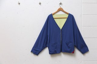 <img class='new_mark_img1' src='//img.shop-pro.jp/img/new/icons5.gif' style='border:none;display:inline;margin:0px;padding:0px;width:auto;' />DOUBLE SIDED CARDIGAN(ネイビー×ライトイエロー)