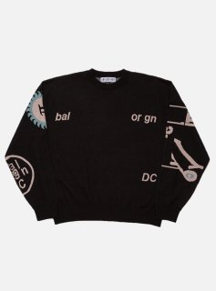 <img class='new_mark_img1' src='//img.shop-pro.jp/img/new/icons5.gif' style='border:none;display:inline;margin:0px;padding:0px;width:auto;' />JACQUARD COTTON CREWNECK SWEATER(BLACK)