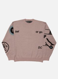 <img class='new_mark_img1' src='//img.shop-pro.jp/img/new/icons5.gif' style='border:none;display:inline;margin:0px;padding:0px;width:auto;' />JACQUARD COTTON CREWNECK SWEATER(OLD ROSE)