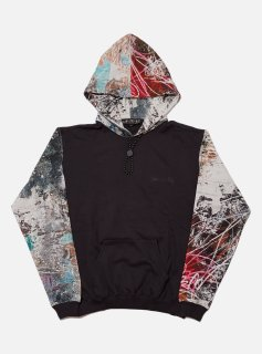 <img class='new_mark_img1' src='//img.shop-pro.jp/img/new/icons5.gif' style='border:none;display:inline;margin:0px;padding:0px;width:auto;' />COLOR BLOCK HOODED SWEAT SHIRT(SMOKY BLACK)