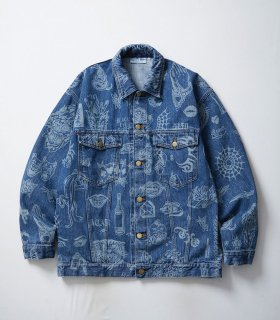 <img class='new_mark_img1' src='//img.shop-pro.jp/img/new/icons5.gif' style='border:none;display:inline;margin:0px;padding:0px;width:auto;' />TATOO FLASH DENIM JACKET(BLUE)
