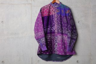 <img class='new_mark_img1' src='//img.shop-pro.jp/img/new/icons5.gif' style='border:none;display:inline;margin:0px;padding:0px;width:auto;' />VINTAGE BANDANA PATCHWORK SHIRT LS(PURPLE)