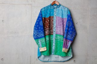 <img class='new_mark_img1' src='//img.shop-pro.jp/img/new/icons5.gif' style='border:none;display:inline;margin:0px;padding:0px;width:auto;' />VINTAGE BANDANA PATCHWORK SHIRT LS(Mix)