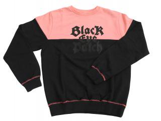 EMBLEM CREWNECK(S.PNK × BLK) -BLACK EYE PATCH- 14AW