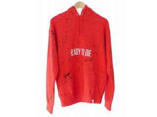 <img class='new_mark_img1' src='//img.shop-pro.jp/img/new/icons50.gif' style='border:none;display:inline;margin:0px;padding:0px;width:auto;' />SPLATTER R.T.D HOODIE(RED) -MAGIC STICK- 15SS
