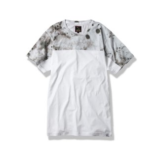 "2TONE CREW TEE ""D.S.T.T""(SPLAY WHITE) -MAGIC STICK- 15SS"