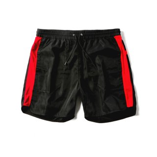 WINDRUNNER SWIM SHORTS(BLACK × RED) -MAGIC STICK- 15SS