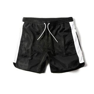 <img class='new_mark_img1' src='//img.shop-pro.jp/img/new/icons50.gif' style='border:none;display:inline;margin:0px;padding:0px;width:auto;' />WINDRUNNER SWIM SHORTS(BLACK × WHITE) -MAGIC STICK- 15SS