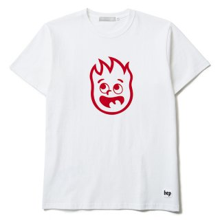 FIRE FRAME T-SHIRTS(WHITE) -BLACK EYE PATCH- 15FW