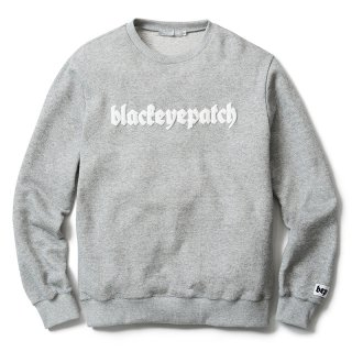 3D LOGO CREWNECK(GRAY) -BLACK EYE PATCH- 15FW