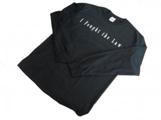 """I Fought the low"" L/S Tee(BLACK) -TR.4 SUSPENSION-"