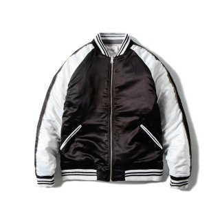 <img class='new_mark_img1' src='//img.shop-pro.jp/img/new/icons50.gif' style='border:none;display:inline;margin:0px;padding:0px;width:auto;' />JP SATIN JACKET(BLACK × WHITE) -MAGIC STICK- 15FW