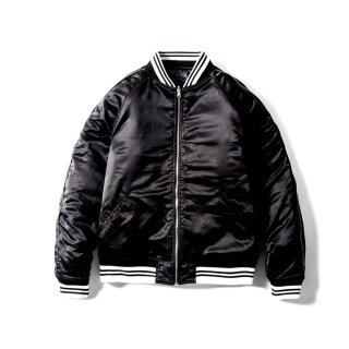 JP SATIN JACKET(ALL BLACK) -MAGIC STICK- 15FW