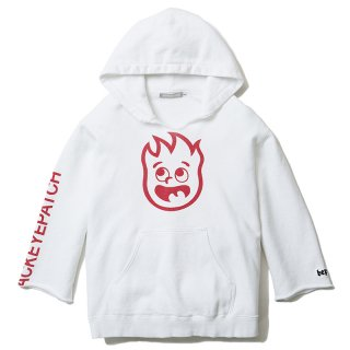 FIRE FRAME DAMAGED PULLOVER(WHITE) -BLACK EYE PATCH- 15FW