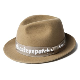 LOGO WOOL HAT(BEIGE) -BLACK EYE PATCH- 15FW