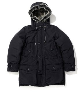<img class='new_mark_img1' src='//img.shop-pro.jp/img/new/icons50.gif' style='border:none;display:inline;margin:0px;padding:0px;width:auto;' />HOODED FUR DOWN FILLED PARKA(BLACK) -BAL- 15FW