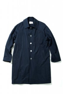 COTTON NYLON SOUTIEN COLLAR COAT(NAVY) -SOE- 16SS